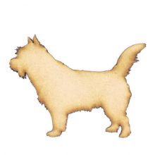 Norwich Terrier Craft Blank, Dog Shape 3mm MDF Laser Cut Pyrography